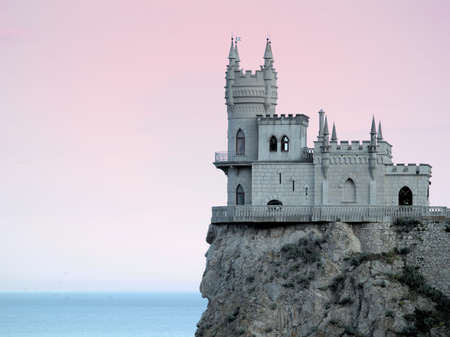 Swallow's Nest Castle Sideview in Sunset HDR gradient filter