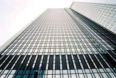 angle view: Skyscraper in Frankfurt on Main, Germany low angle view