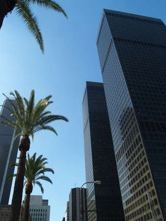 Los Angeles downtown area skyscrapers daytime