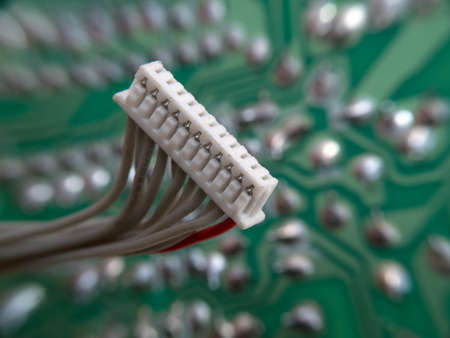 Data bus in pincers electronic assembly macro view