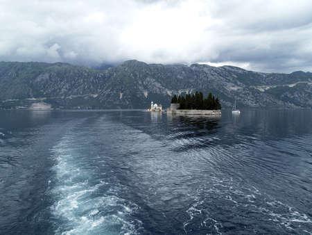 sveti: Gospa Od Skprjela and Sveti Djordje islands. Kotor bay, Montenegro