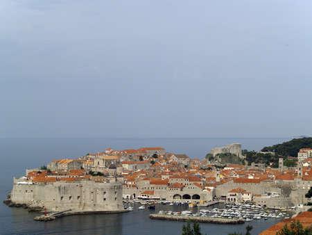 telezoom: Dubrovnik cityscape telezoom shot from far mountain