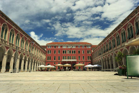 Republic (Prokurative) Square in Split city Croatia Stock Photo