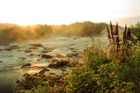 rushing: Dawn over Rushing river