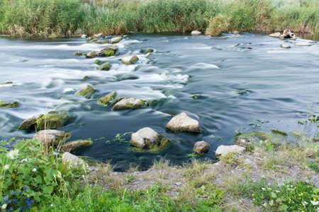 Rushing river Stock Photo