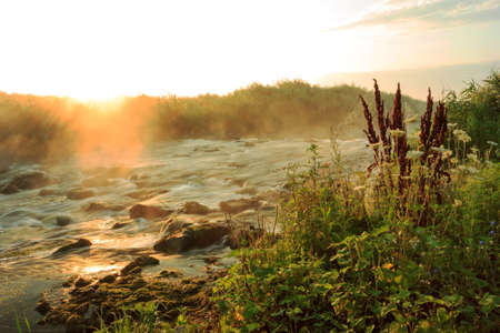 flowing river: Dawn over Rushing river