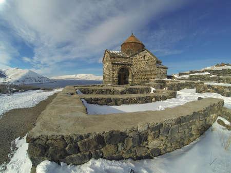 Sevanavank monastery in winter