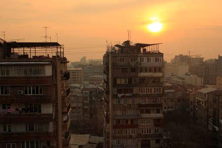 Yerevan sunset Stock Photo