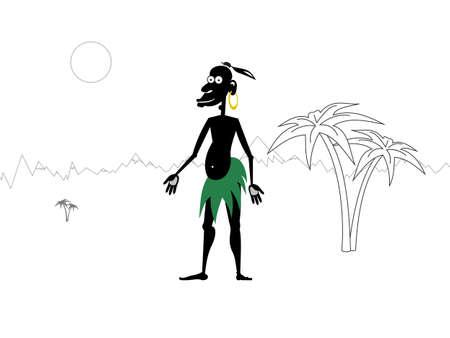 rejoicing: Ci sorride aborigena in una giornata soleggiata