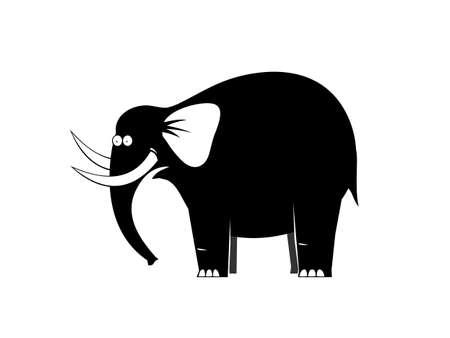 beastly: Surprised big black elephant