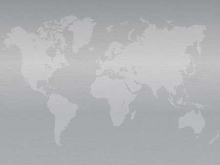 leaden: There is a map of continents on a metallic sheet with a gradient.