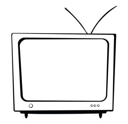 大きなテレビ アンテナとボタンがあります。  イラスト・ベクター素材