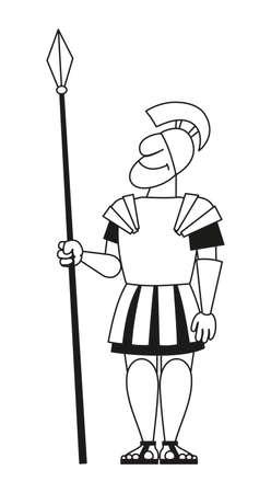 古代の戦士は槍と鎧であります。