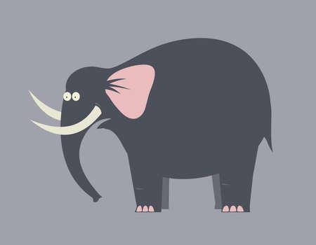 elvonult: Meglepett nagy fekete elefánt agyarai