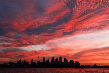 Red orange sky sunset photo