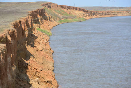 volga: steep bank of volga river