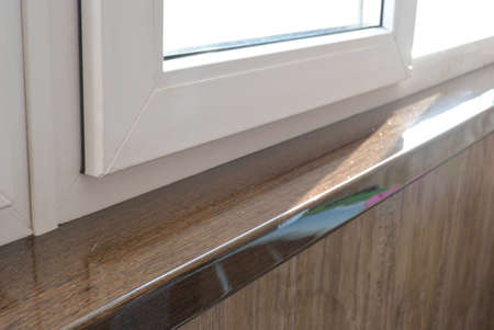 sill: acrilyc sill wenge and pvc windows