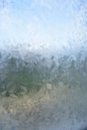 crystal glass: the pattern of broken crystal glass in window