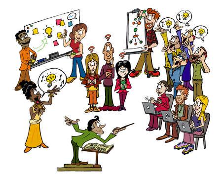 The innovation orchestra Illustration