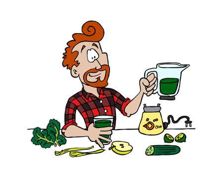 Vegan dishes - green juice