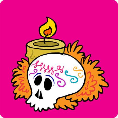 Sugar skull day of the dead Mexico