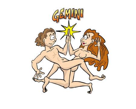 astrological sign gemini Stock Illustratie