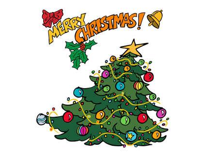 Christmas tress drawing Zdjęcie Seryjne