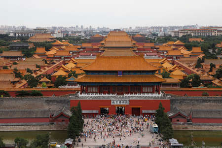 bejing: Top view on Forbidden city in Bejing, China Editorial