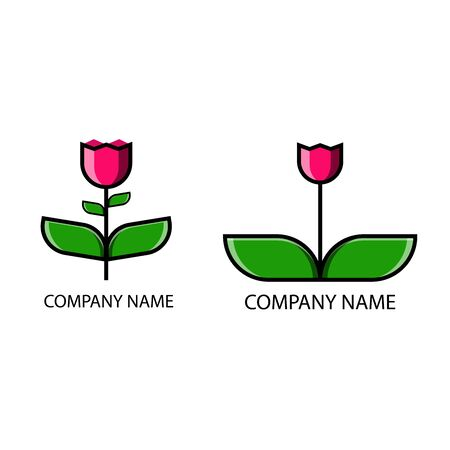 Flower Logo Images, company name, Stock Photos & Vectors