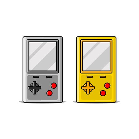 vector illustration of a portable game console