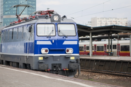 view from the front of the locomotive   Poland