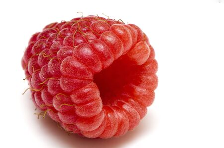 tasty raspberry on white background photo