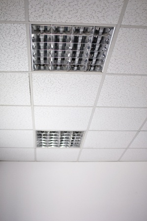 fluorescent lamp on the modern ceiling  photo