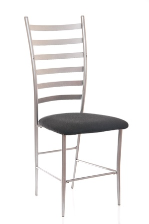 metal chair on white background photo