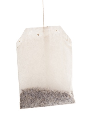tea bag on white background photo