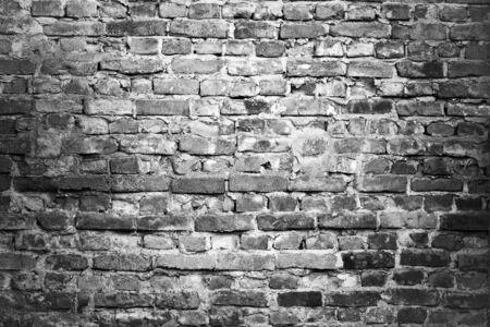 brick clay: brick wall - black & white background