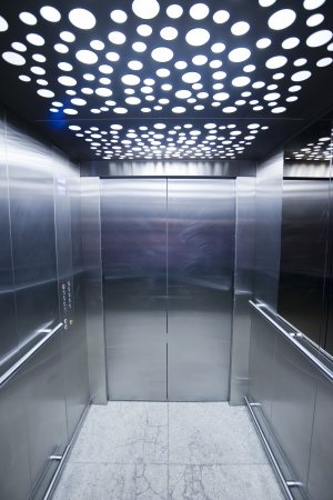 inside of: view from inside the elevator