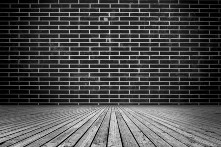brick wall background: Interior Design With black, brick wall