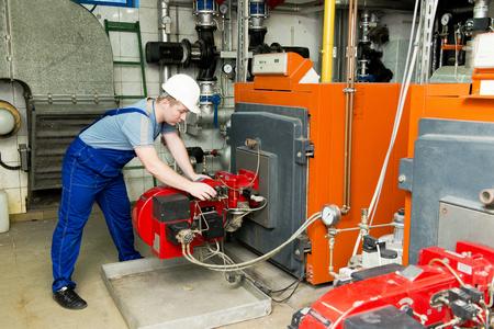checks: specialist checks the central heating system