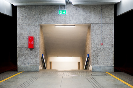 underpass: underpass at the railway station Stock Photo