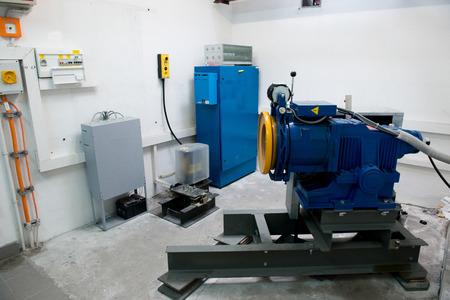 engine room: motor driven elevator in the engine room