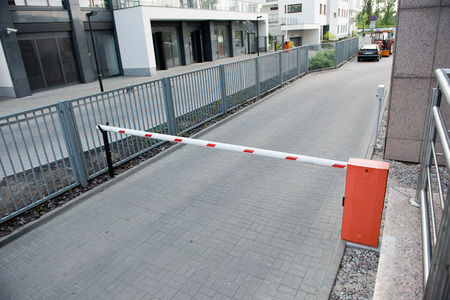 Vehicle security barrier - entrance to the car park 版權商用圖片