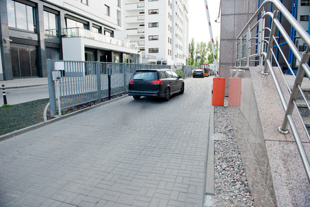 Vehicle security barrier - entrance to the car park photo
