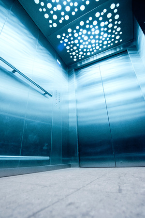 lift gate: view from inside the elevator