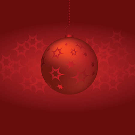 backgrounds: Christmas Ball on red background. vector