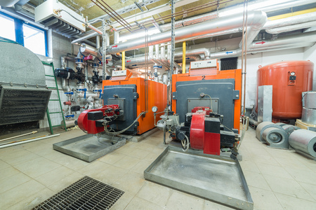 encirclement: two huge furnaces in the boiler room