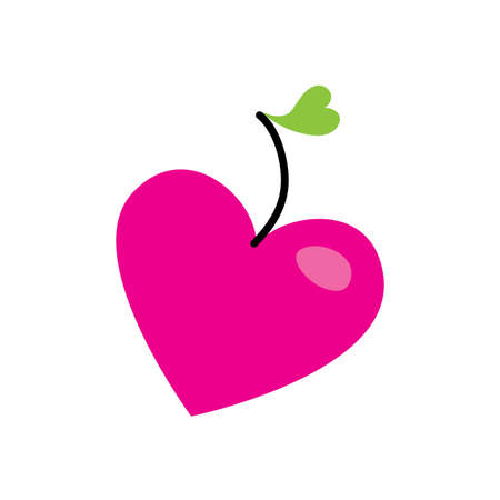 symbol of love - the apple-heart Stock Vector - 8977421