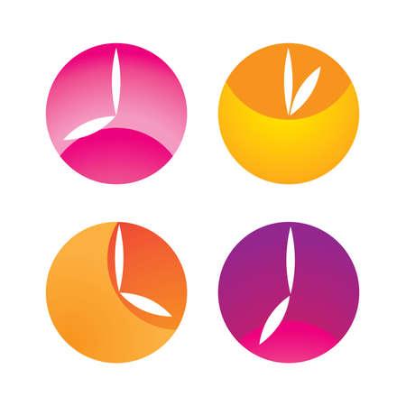 정오: clock showing the time of the day - morning (dawn), noon, afternoon, evening (sunset)