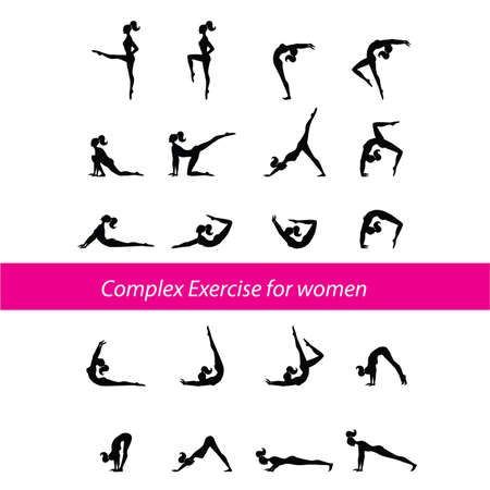Complex Exercise for women Vector