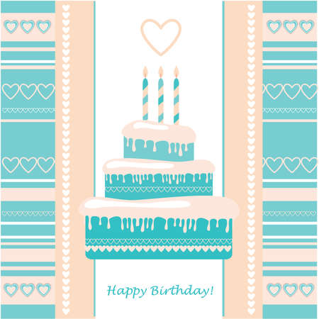 template greetings - Happy Birthday! Vector